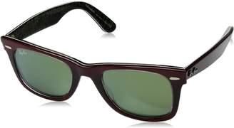 Ray-Ban RB2140 Wayfarer Sunglasses, Pixel Grey/Copper Flash