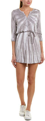 Chaser Rolled Cuff Shirttail Dress