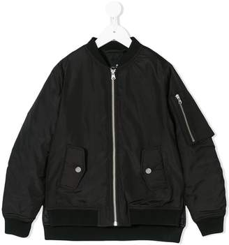 Little Remix layered bomber jacket