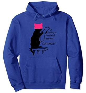 Feminist Cat Hoodie Nasty Woman Pink PussyHat Protest