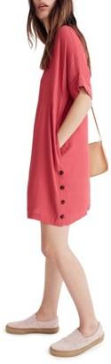 Women's Madewell Jeanie Side Button T-Shirt Dress $118 thestylecure.com
