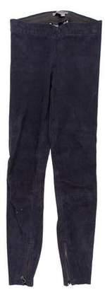 Vince Suede Low-Rise Pants