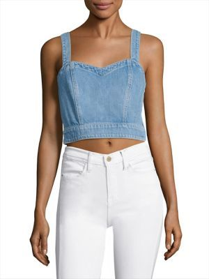 7 For All Mankind Denim Bustier $169 thestylecure.com