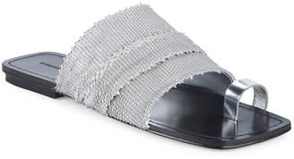 Sigerson Morrison Women's Abbe Textured Leather Slides