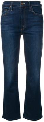 Mother cropped denim jeans