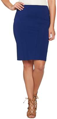 Shape Fx Ponte Knit Pencil Skirt with Seam Detail