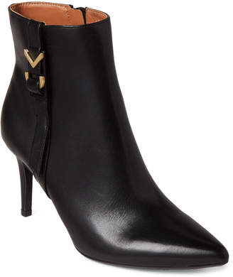 Calvin Klein Black Grace Pointed Toe Ankle Booties
