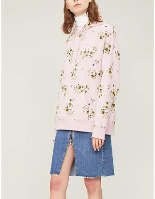 Kenzo Floral-print cotton-jersey hoody