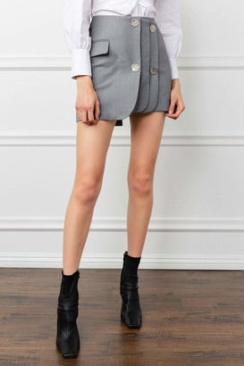 J.ING Level Up Grey Skirt