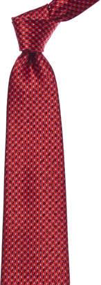 Ermenegildo Zegna Red Paisley Silk Tie