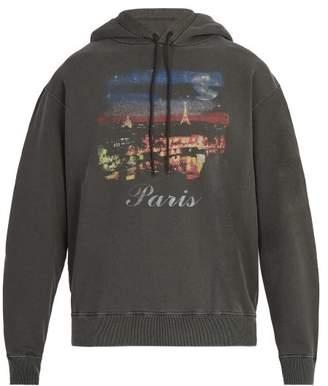 Balenciaga Paris Washed Hoodie - Mens - Black