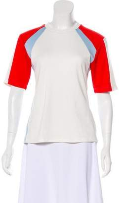 Tory Sport Paneled Short Sleeve Top