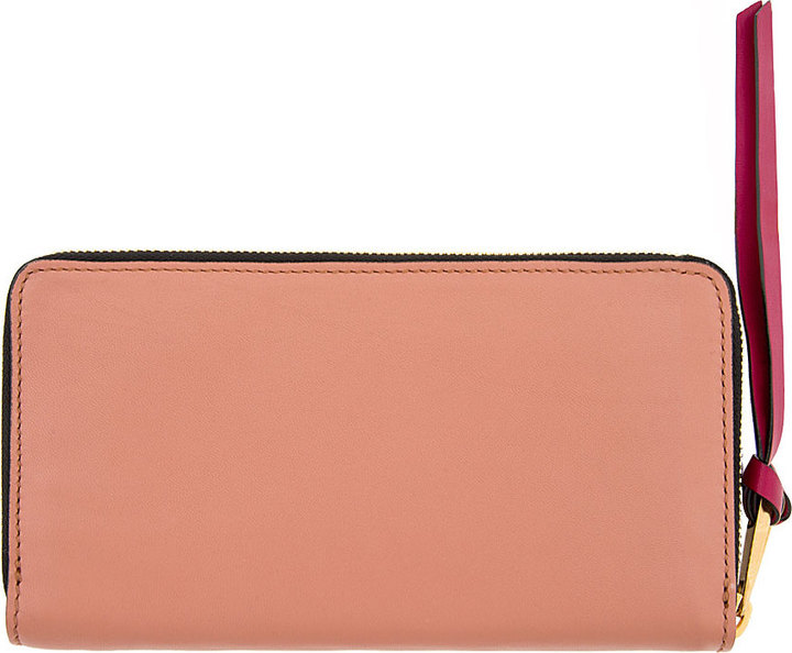 Marc Jacobs Pink The Doubles Deluxe Continental Wallet