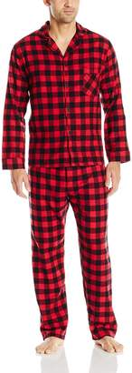 Hanes Men's Long Sleeve Flannel Pajamas