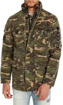 Buffalo David Bitton Zip-Up Camo Jacket