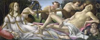 Sandro Spiffing Prints Botticelli - Venus and Mars - Medium - Semi Gloss - Black Frame