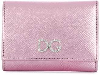 Dolce & Gabbana metallic foldover wallet