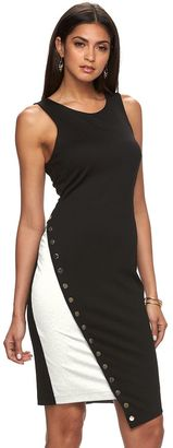 Women's Jennifer Lopez Asymmetrical Colorblock Sheath Dress $70 thestylecure.com