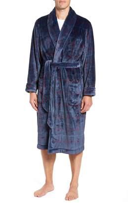 Nordstrom Windowpane Fleece Robe