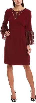 Trina Turk Luciana Silk-Trim Shift Dress