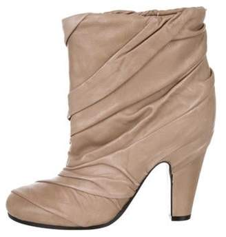 Maison Margiela Leather Ankle Boots Beige Leather Ankle Boots
