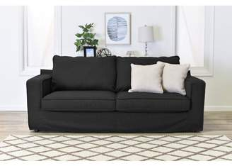 """Serta at Home Colton 85"""" Sofa with Slipcover in Charcoal"""