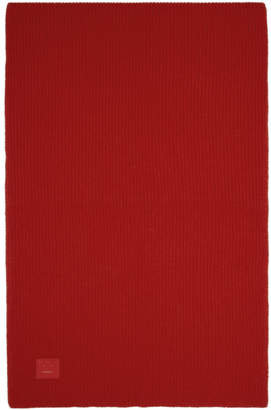 Acne Studios Red Bansy Face Scarf