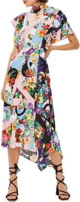 Topshop Cowl Back Midi Dress