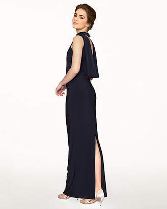 Le Château Knit Mock Neck Sleeveless Gown