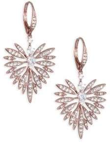 Adriana Orsini Small Crystal Burst& Rose Goldplated Earrings
