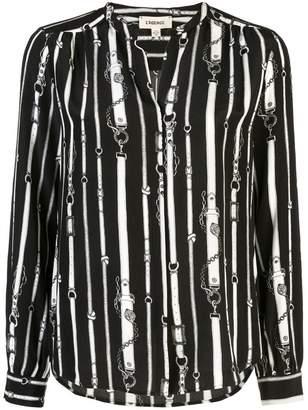 L'Agence belt printed shirt