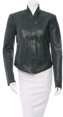 Veda Collarless Leather Jacket w/ Tags