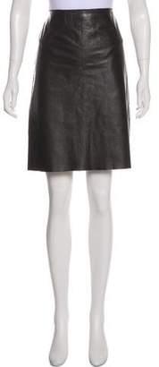 Theory Leather Knee-Length Skirt