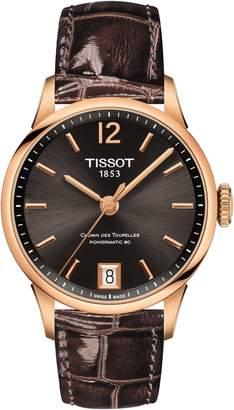 Tissot Chemin des Tourelles Powermatic 80 Lady Leather Strap Watch, 32mm