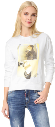 DSQUARED2 Printed Sweatshirt $390 thestylecure.com
