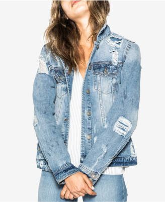 Silver Jeans Co. Cotton Ripped Denim Jacket