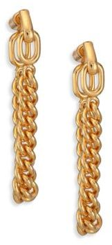 Giles & Brother Stirrup Chain Drop Earrings $110 thestylecure.com