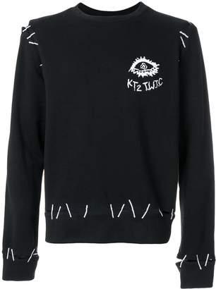 Kokon To Zai monster pin embroidery sweatshirt