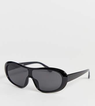 a12ae03ada8e Glamorous Exclusive oversized black visor sunglasses