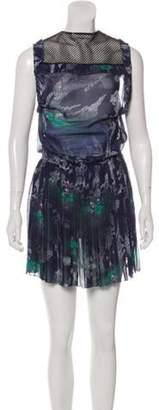 Timo Weiland Sleeveless Mini Dress Blue Sleeveless Mini Dress