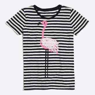 J.Crew Factory Flamingo striped collector T-shirt