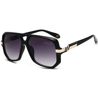 7eb34dbef4 SHEEN KELLY Aviator Sunglasses Gold Black Mens Sunglasses Bold Frame Retro  Women Eyewear UV400