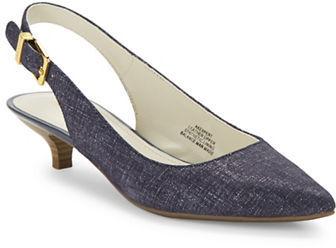 Anne KleinAnne Klein Expert Leather Sling-Back Heels