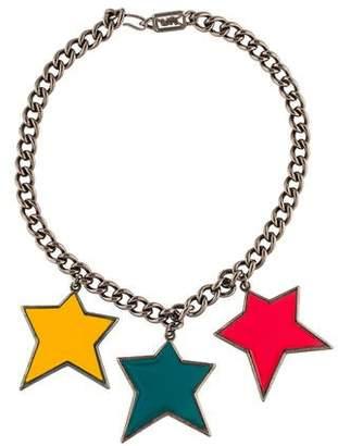 Saint Laurent Enamel Stars Chain Necklace