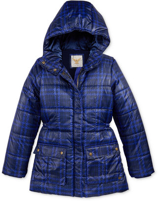 Tommy Hilfiger Printed Hooded Puffer Jacket, Big Girls (7-16) $89.50 thestylecure.com