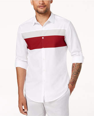 INC International Concepts I.n.c. Men's Colorblocked Hybrid Shirt, Created for Macy's