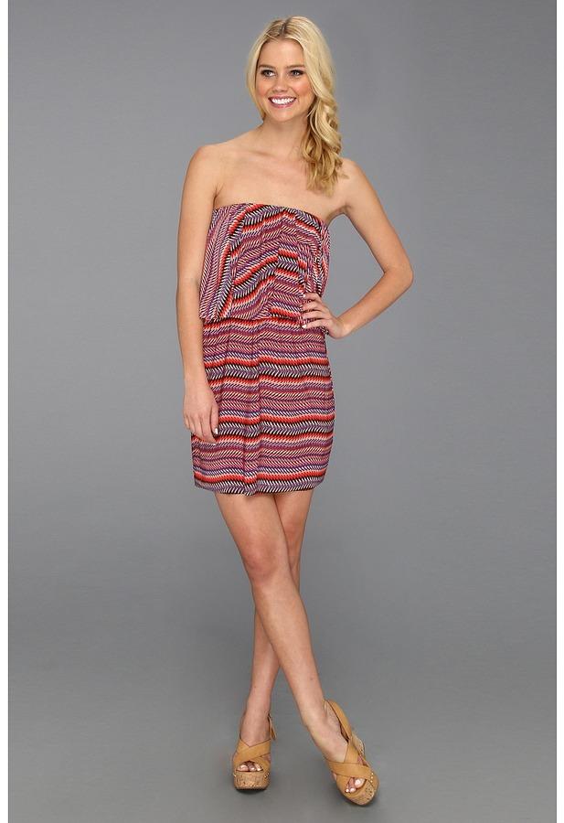 T-Bags Tbags Los Angeles Layered Ruffle Tube Mini Dress Women's Dress