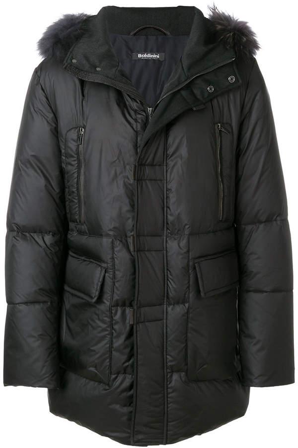 Baldinini fur trim coat