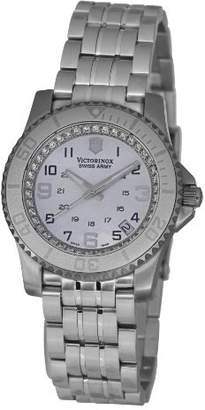 Victorinox Unisex Quartz Watch with Mother Of Pearl Dial Analogue Display and Silver Stainless Steel Strap V.251147