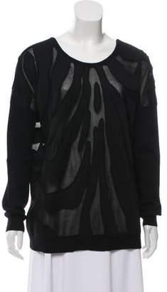 Barbara Bui Wool Long Sleeve Sweater